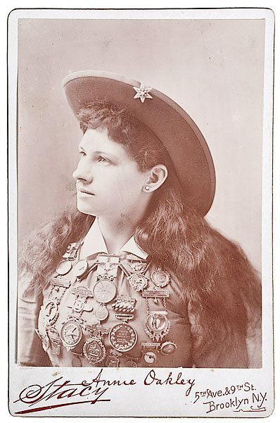 Annie Oakley Cabinet Photograph by Stacy