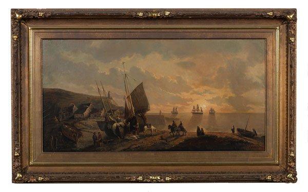 Dutch Coastal Scene by A. Leonard