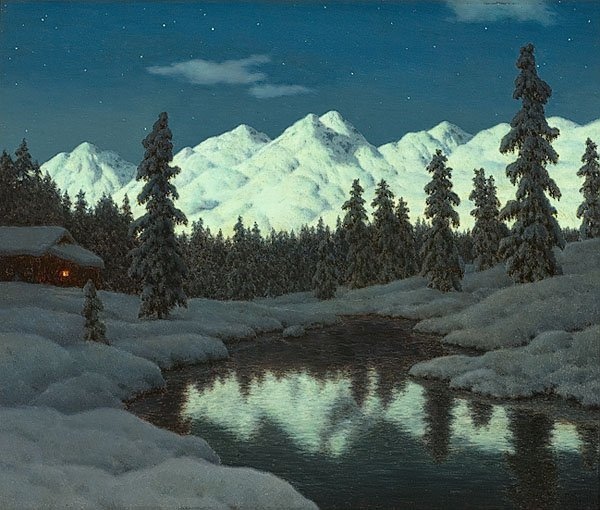 Engadine in Snow by Ivan Fedorovich Choultse