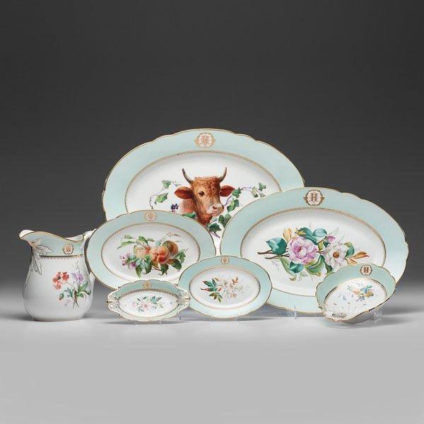 Paris Porcelain Hand-Painted Dinner Service