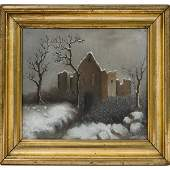19th Century Pastel Winter Scene
