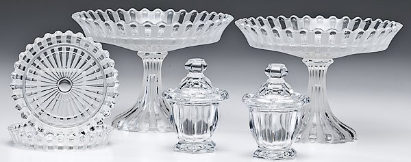 Baccarat Cake Stands and Condiment Jars