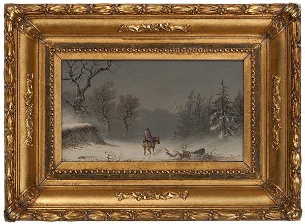 Winter Scene with Lone Figure by William Bonfield