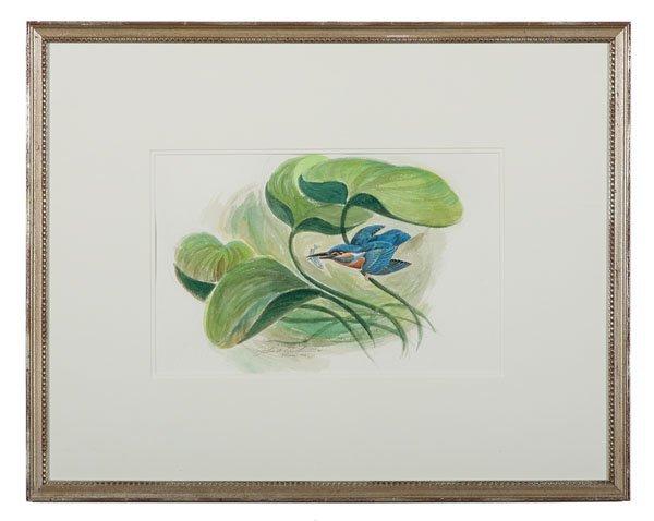 Watercolor of a Bird by John Ruthven