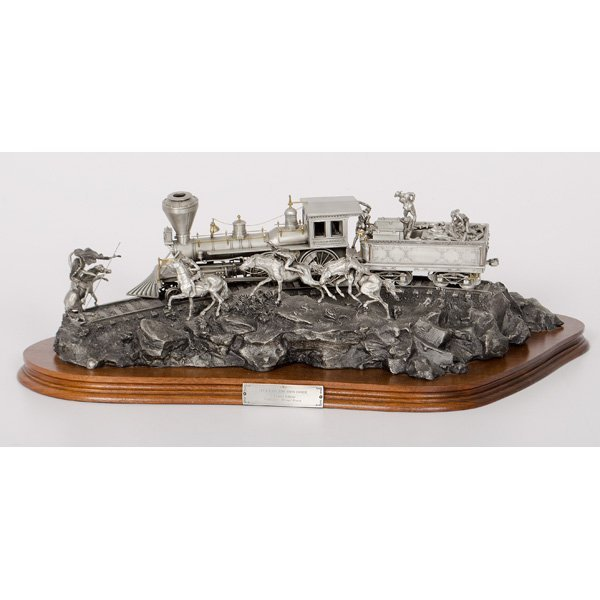 Chilmark Pewter Attack on the Iron Horse, by Michael