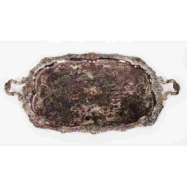 Barbour Silver-Plated Two-Handled Tray