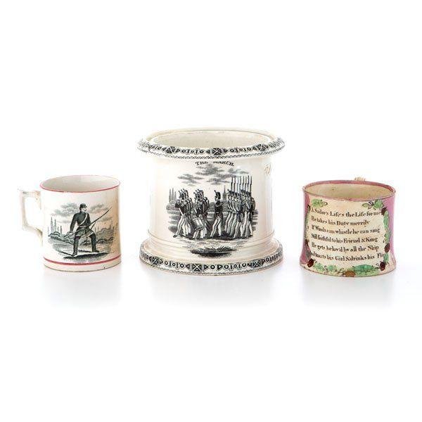 Historical Staffordshire Mugs of American Interest