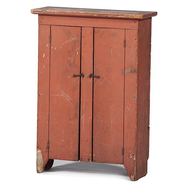 Child's Salmon Painted Cupboard