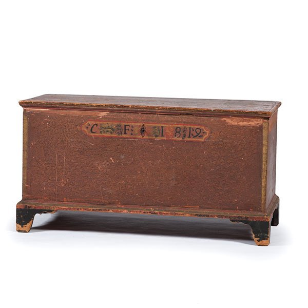 Decorated Blanket Chest, dated 1819