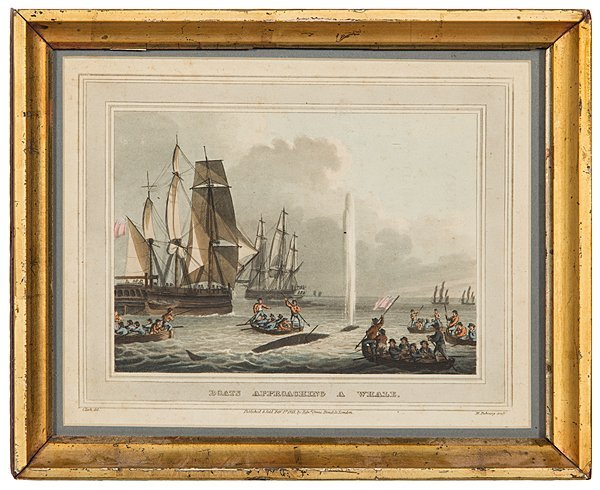 Boats Approaching a Whale by M. Dubourg