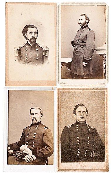 Four CDVs: Canby, Wm. P. Carlin, Joseph B. Carr, Henry
