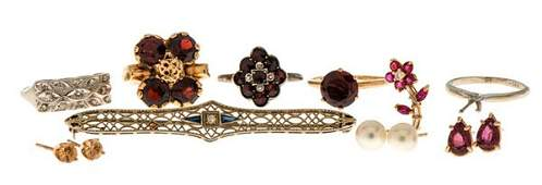 A Mixed Collection of Gem Set Jewelry