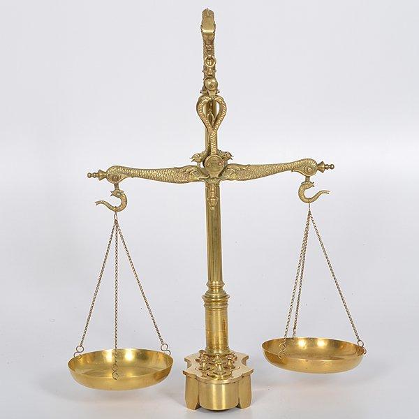 Maco Braga Figural Brass Scale