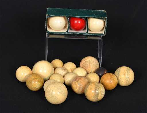 Group Of Antique Ivory Billiard Balls
