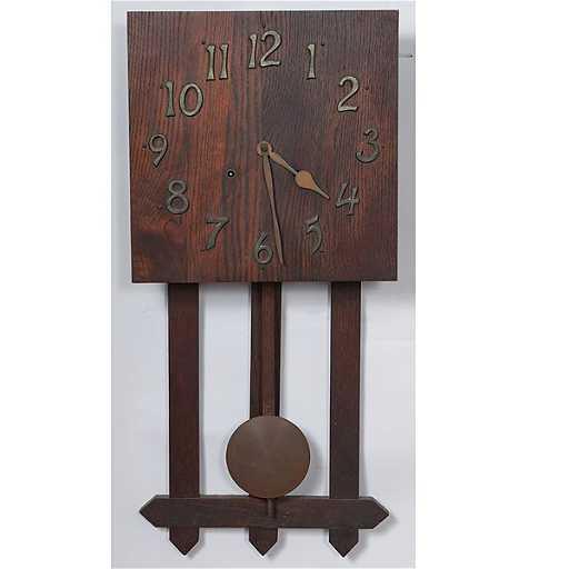 The E. Ingraham Company Arts and Crafts Wall Clock
