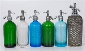 Colored Glass Seltzer Bottles