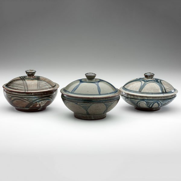 Abuja Pottery Covered Bowls, by Ladi Kwali (Nigeria,