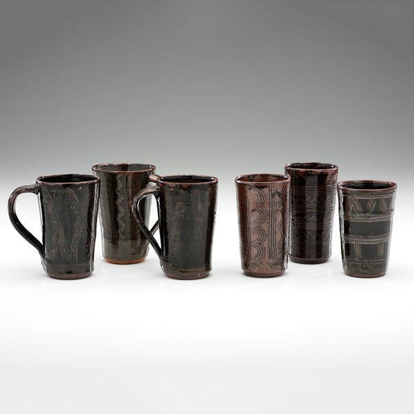 Abuja Pottery Drinking Vessels by Kande Ushafa