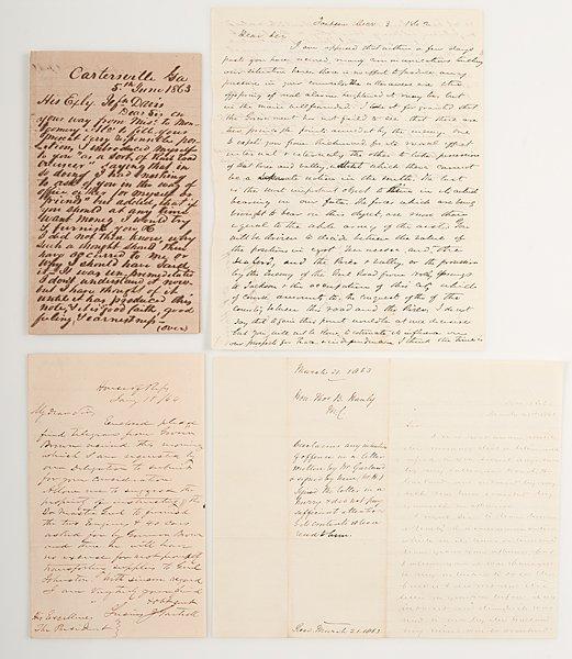Jefferson Davis, Correspondence with the CSA President