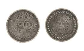 Civil War ID Disc, J.A. Smith, 1st Maryland Infantry,