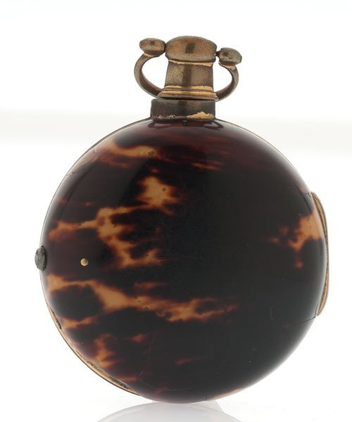 James Berry Tortoise Shell Paired-Case Pocket Watch - 2