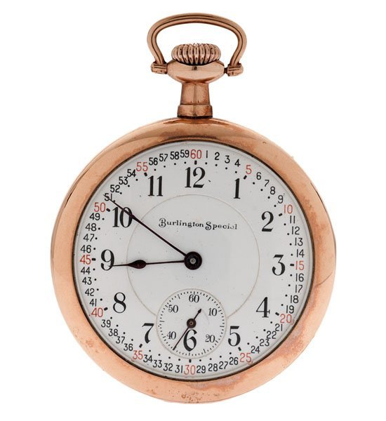 Burlington Special Open-Face Pocket Watch