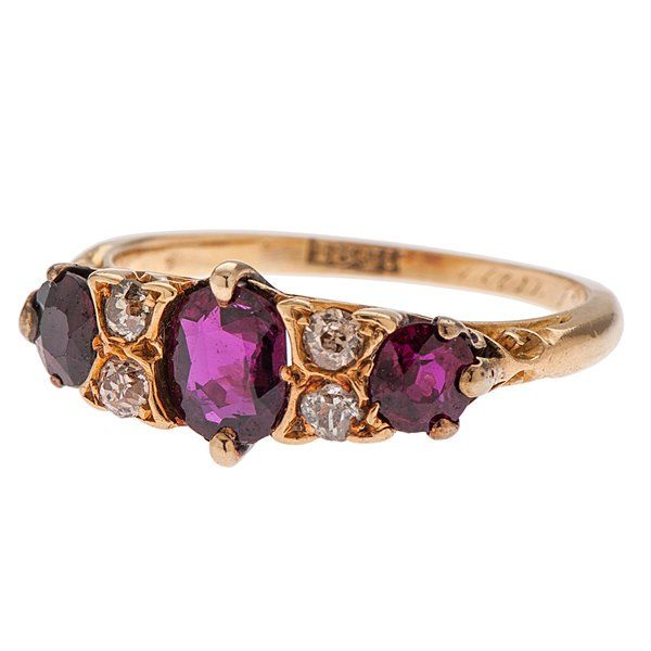 Ruby and Diamond Ring in 18 Karat Yellow Gold