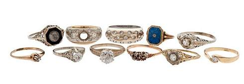 Rings with an Assortment of Stones in Karat Gold