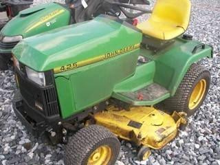 """52: John Deere 425 L&G Tractor w/ 52"""" Mower"""