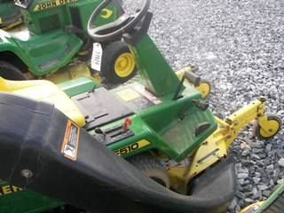55: John Deere 510 Front Cut tractor mower 110 hrs.