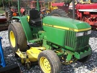 """147: John Deere 870 Tractor w/ 72"""" Belly Mower"""
