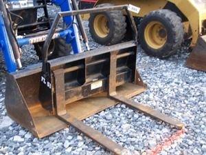 282: Bush hog Quick attach pallet forks for loader trac