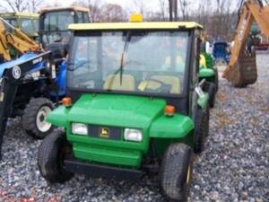 302: JOHN DEERE 6X4 GATOR W/ CAB, DUMP, SNOW PLOW, BEDL