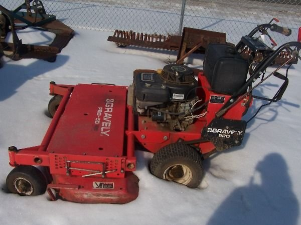 13: Gravely PRO 50 Walk Behind Tractor Mower - 2