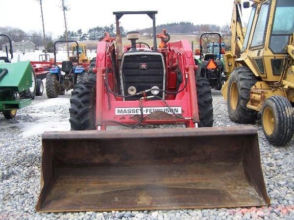 227: Nice Massey Ferguson 283 4x4 Farm Tractor w/ Loade - 3