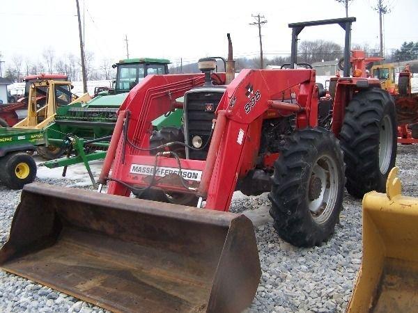 227: Nice Massey Ferguson 283 4x4 Farm Tractor w/ Loade - 4