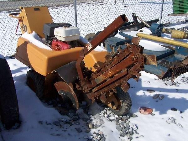 29A: Case 60 Walk behind trencher w/ Honda Engine