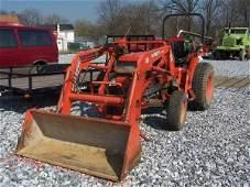 682A: Kubota L3410 4x4 Compact Tractor w/ Loader !!