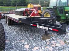 158: Nice Hudson 9 Ton Bobcat Style Deck Over Trailer