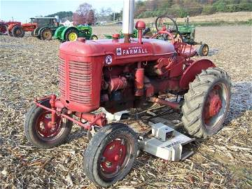 534: Farmall A Tractor with Woods Belly Mower