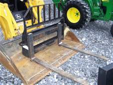 "138: John Deere 48"" Pallet Forks for Skid Steer Loader"