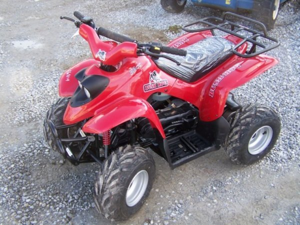 167: New Unused Bush Hog 50 CC Youth Four Wheel