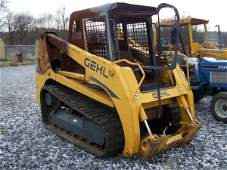 1121: Gehl CTL80 Tracked Skid Steer Cab Fire Damage