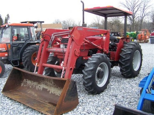 1136: case ih 595 4x4 farm tractor with loader
