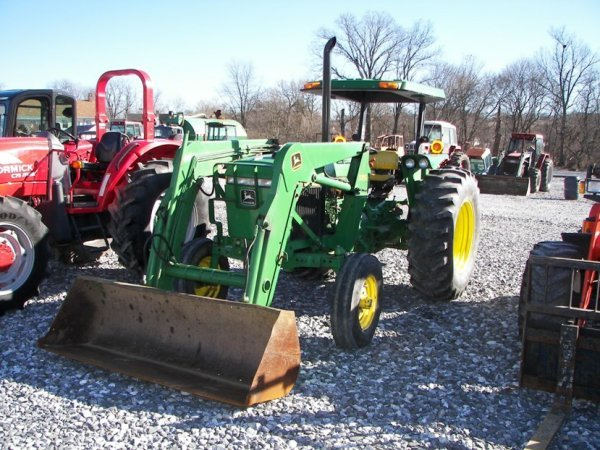 1143: John Deere 2355 Tractor with Loader, Canopy ROPS