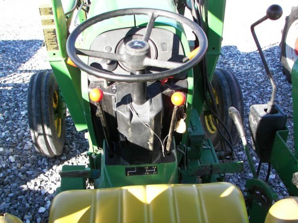 1143: John Deere 2355 Tractor with Loader, Canopy ROPS - 9