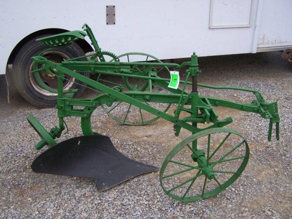 6: Antique John Deere 1 Bottom Ride on Plow