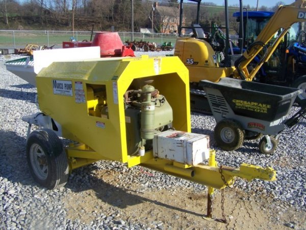 696: Mayco Tow Behind Concrete Pump with Gas Engine
