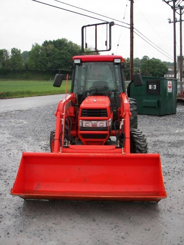 1155: Kubota L4630 4x4 Compact Tractor with Cab  Loader - 2