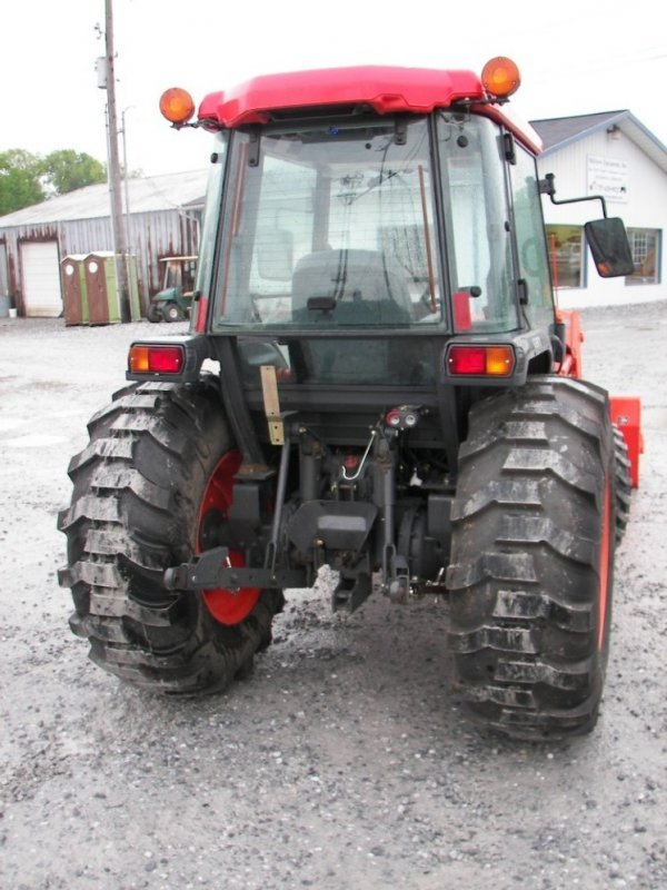 1155: Kubota L4630 4x4 Compact Tractor with Cab  Loader - 4